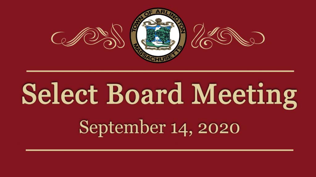 Select Board Meeting – September 14, 2020