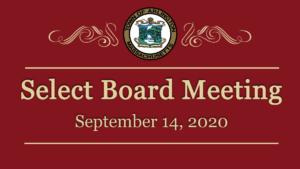 Select Board Meeting – September 14, 2020