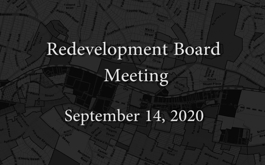 Redevelopment Board Meeting – September 14, 2020