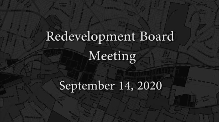 Redevelopment Board Meeting – September 14, 2020