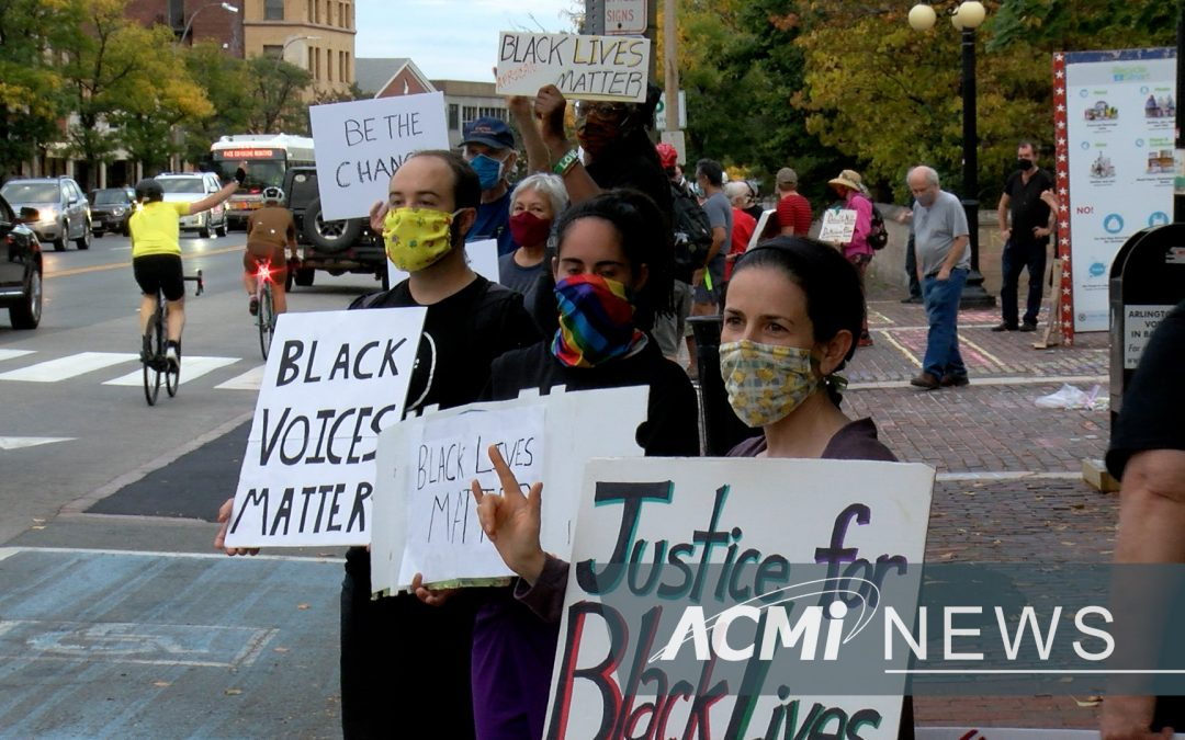 BLM Banner Protest