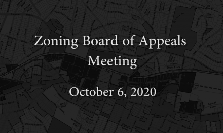 Zoning Board of Appeals Meeting – October 6, 2020
