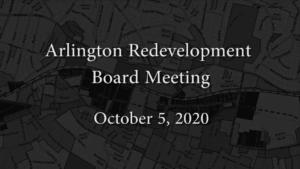 Arlington Redevelopment Board – October 5, 2020