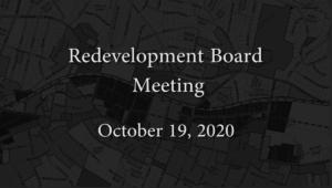 Redevelopment Board Meeting – October 19, 2020