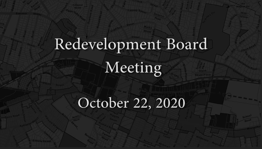 Redevelopment Board Meeting – October 22, 2020