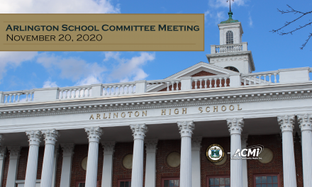 School Committee Meeting – November 20, 2020
