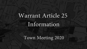 Warrant Article 25: Resolution/Black Lives Matter Banner At Town Hall – Town Meeting 2020