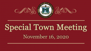 Special Town Meeting – November 16, 2020