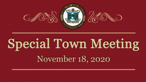 Special Town Meeting – November 18, 2020
