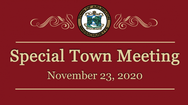 Special Town Meeting – November 23, 2020