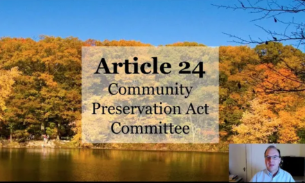 Warrant Article 24: Community Preservation Act Committee