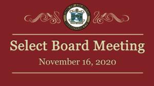 Select Board Meeting – November 16, 2020