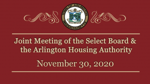Joint Meeting of the Select Board & the Arlington Housing Authority