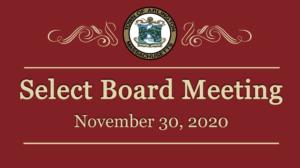 Select Board Meeting – November 30, 2020