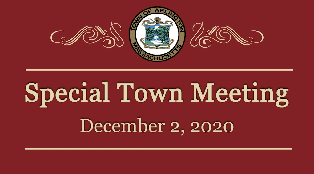Special Town Meeting – December 2, 2020