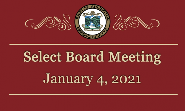Select Board Meeting – January 4, 2021