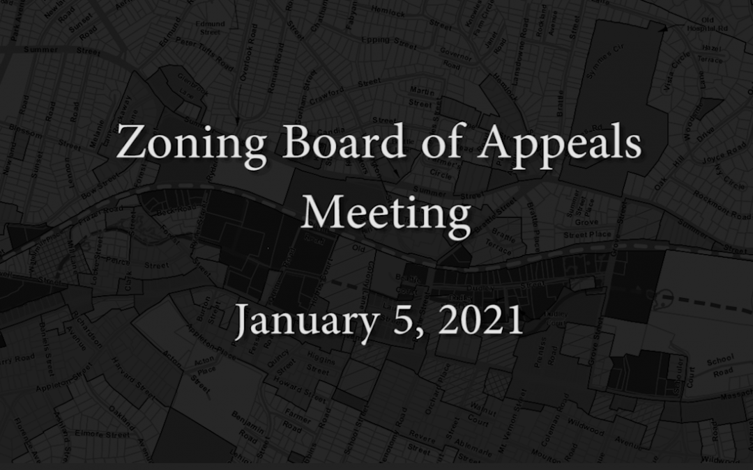 Zoning Board of Appeals Meeting – January 5, 2021