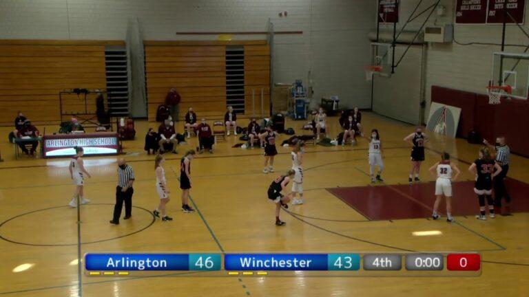 Arlington High School Girls Varsity Basketball  vs. Winchester – January 30, 2021