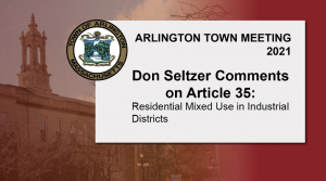 Don Seltzer Comments on Article 35: Residential Mixed Use in Industrial Districts