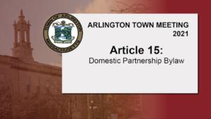 Article 15: Domestic Partnership Bylaw