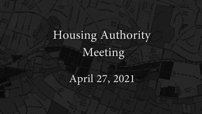 Housing Authority Meeting – April 27, 2021