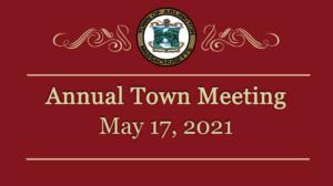 Town Meeting – May 17, 2021