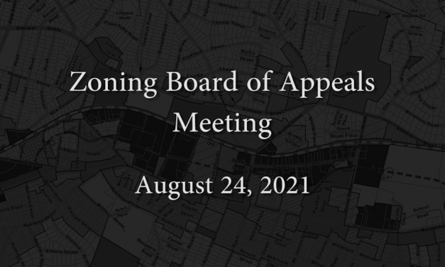 Zoning Board of Appeals – August 24, 2021